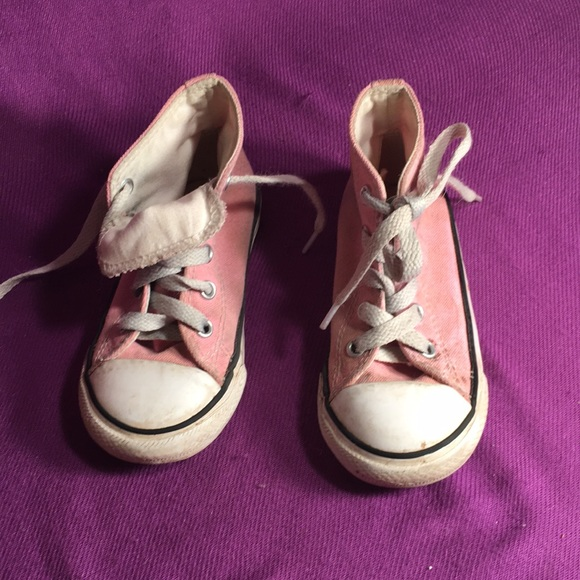 Converse Other - Converse Pink High tops SZ 7 infant